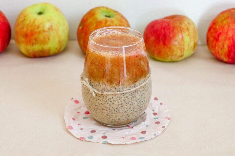 Apple chia pudding recipe (Vegan & Healthy)