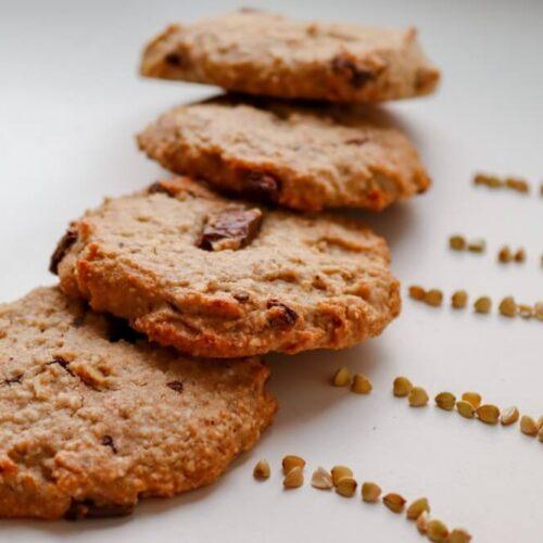 vegan buckwheat oatmeal cookies