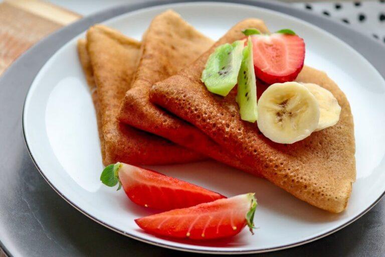 Vegan buckwheat crepes (sugar-free & gluten-free)