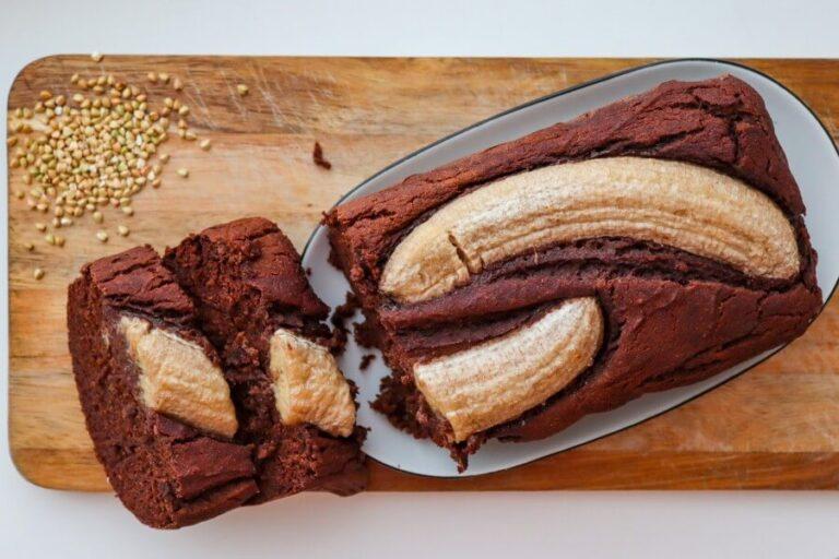 Buckwheat banana bread   vegan, gluten-free, sugar-free
