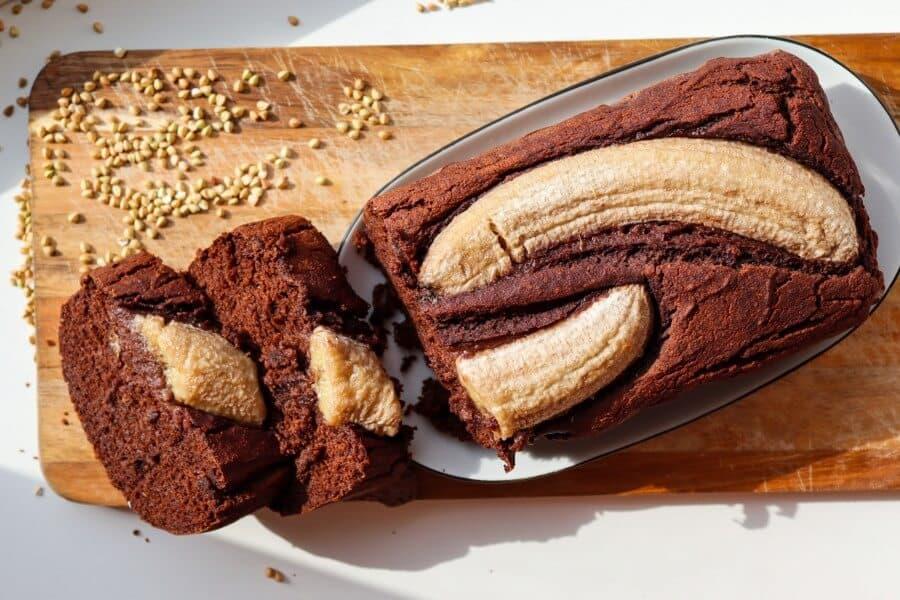 buckwheat, banana, bread, vegan, healthy, sugar-free, gluten-free