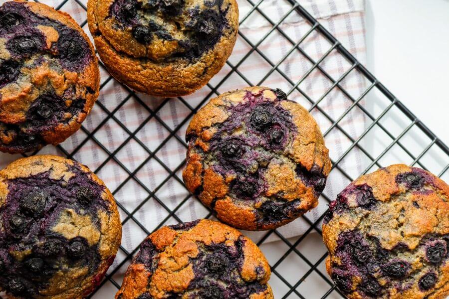 vegan, recipe, healthy, sugar-free, gluten-free, muffins, buckwheat, blueberry