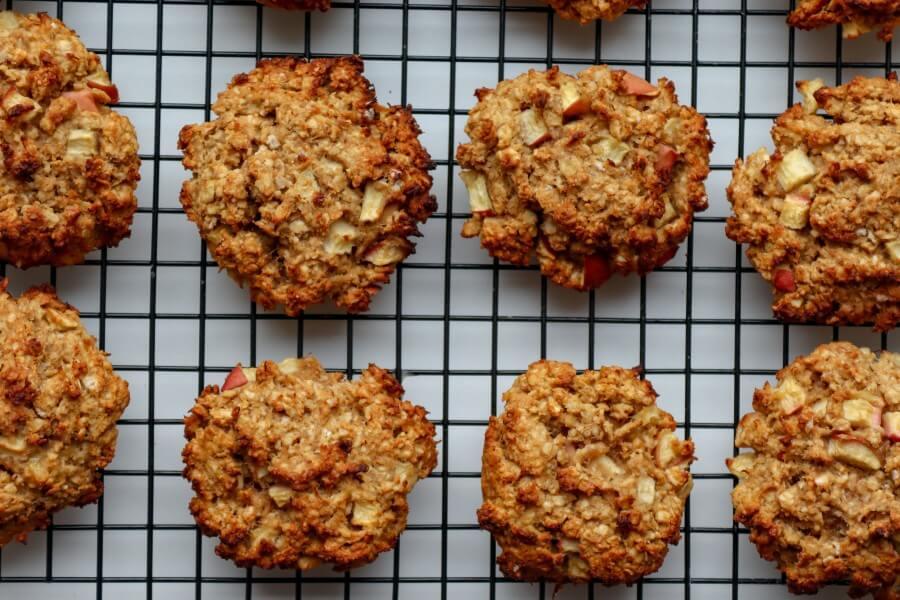 healthy, apple, vegan, oatmeal, cookies, sugar-free, gluten-free
