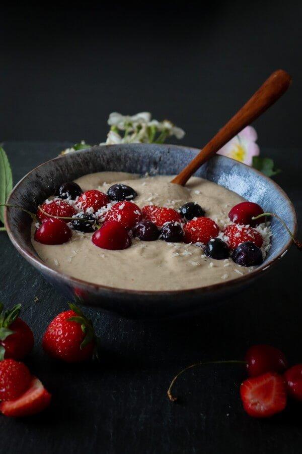 buckwheat, smoothie bowl, peanut butter, recipe