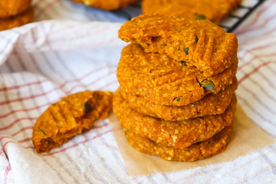 sweet potato cookies, vegan, 3 ingredients, easy, healthy