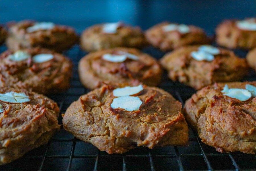 chickpea cookies, vegan, healthy, gluten-free, sugar-free